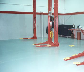 Automotive Showroom & Service Flooring
